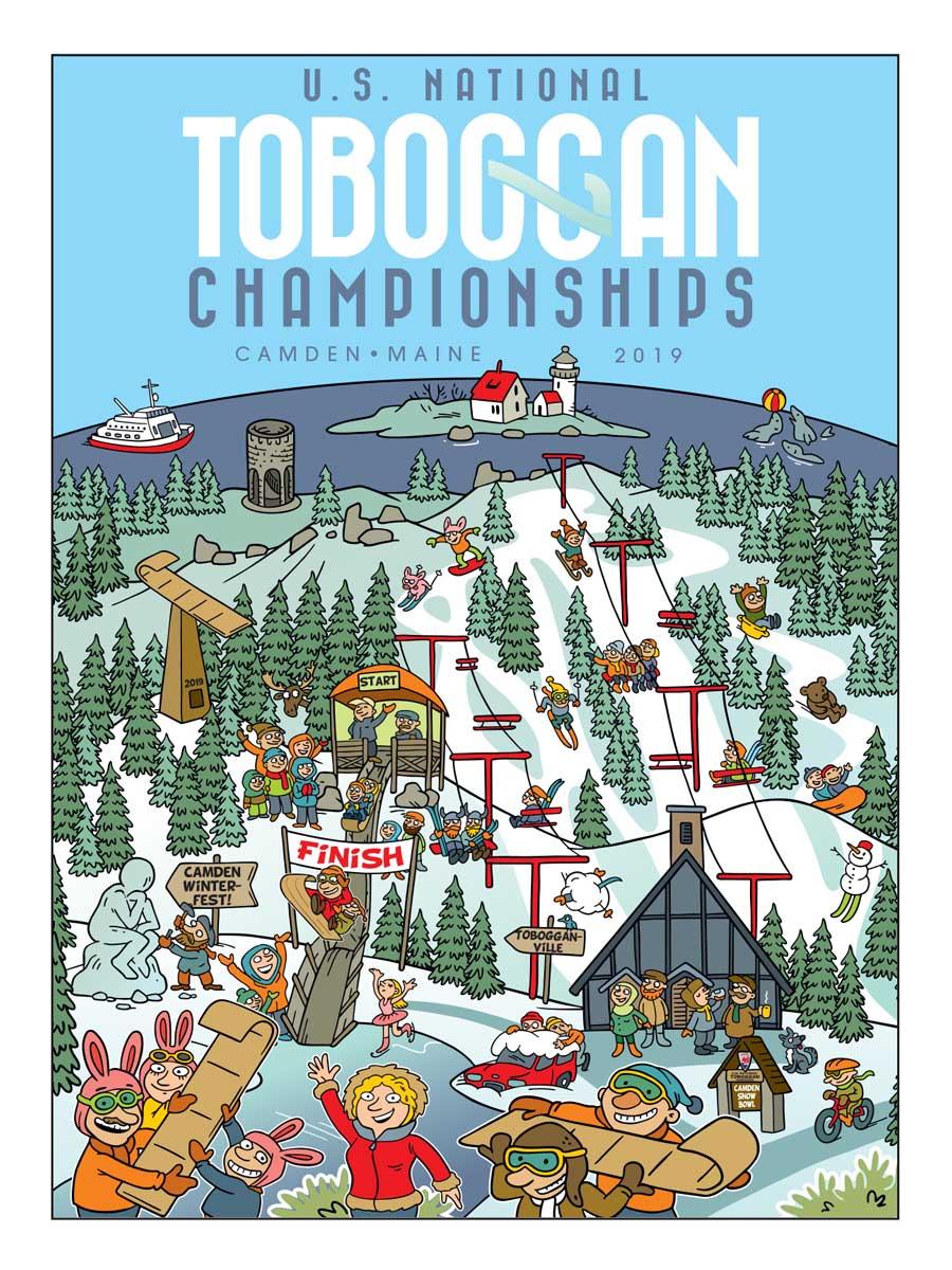 2019 Toboggan Poster